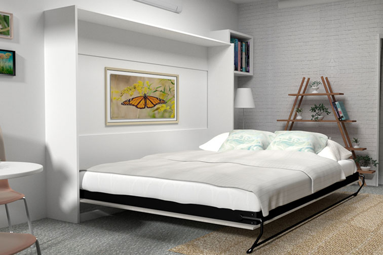 Alpha Wall Bed - Horizontal (Premium Colour Range)